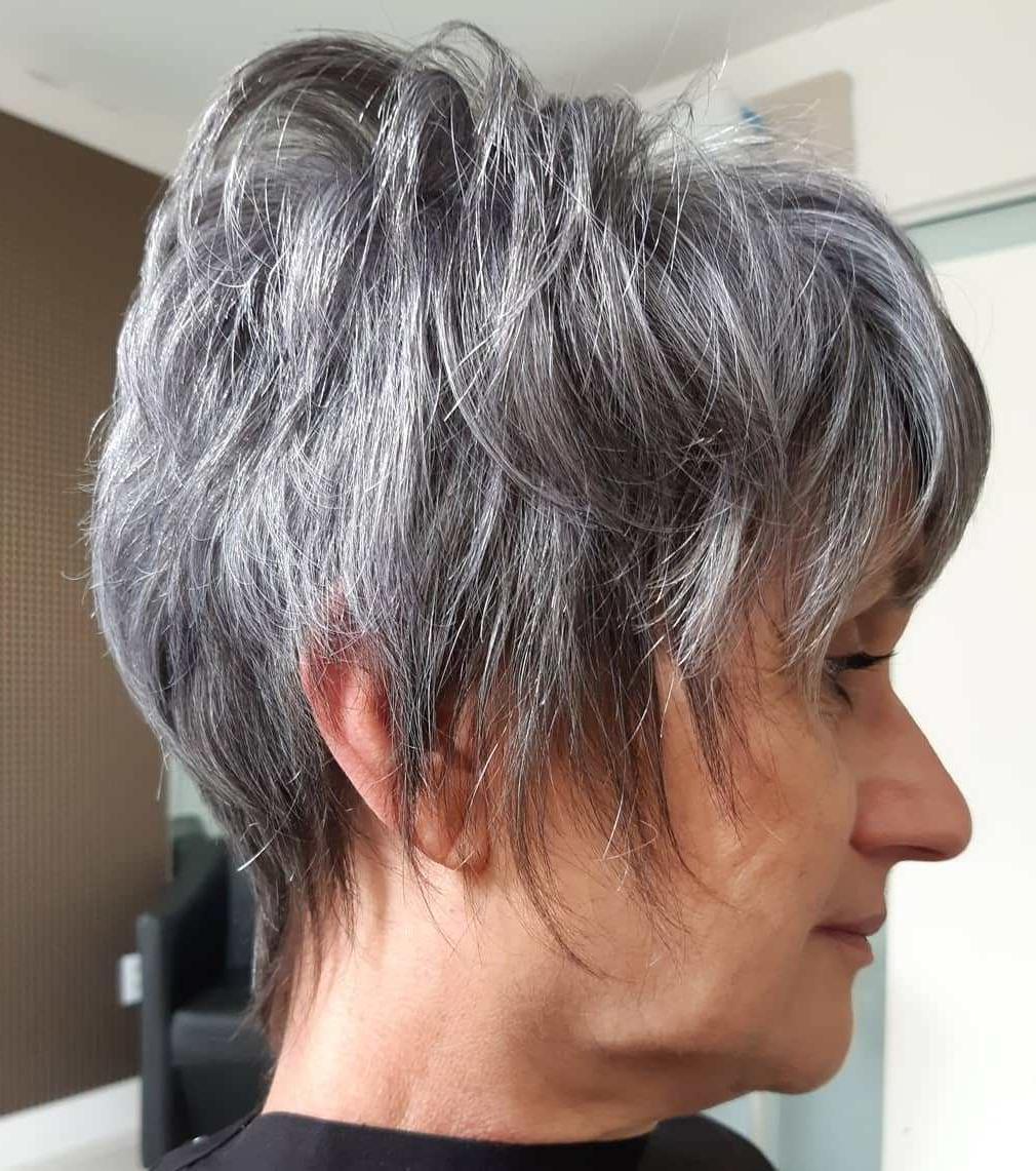 Simpatico Pixie scuro e grigio