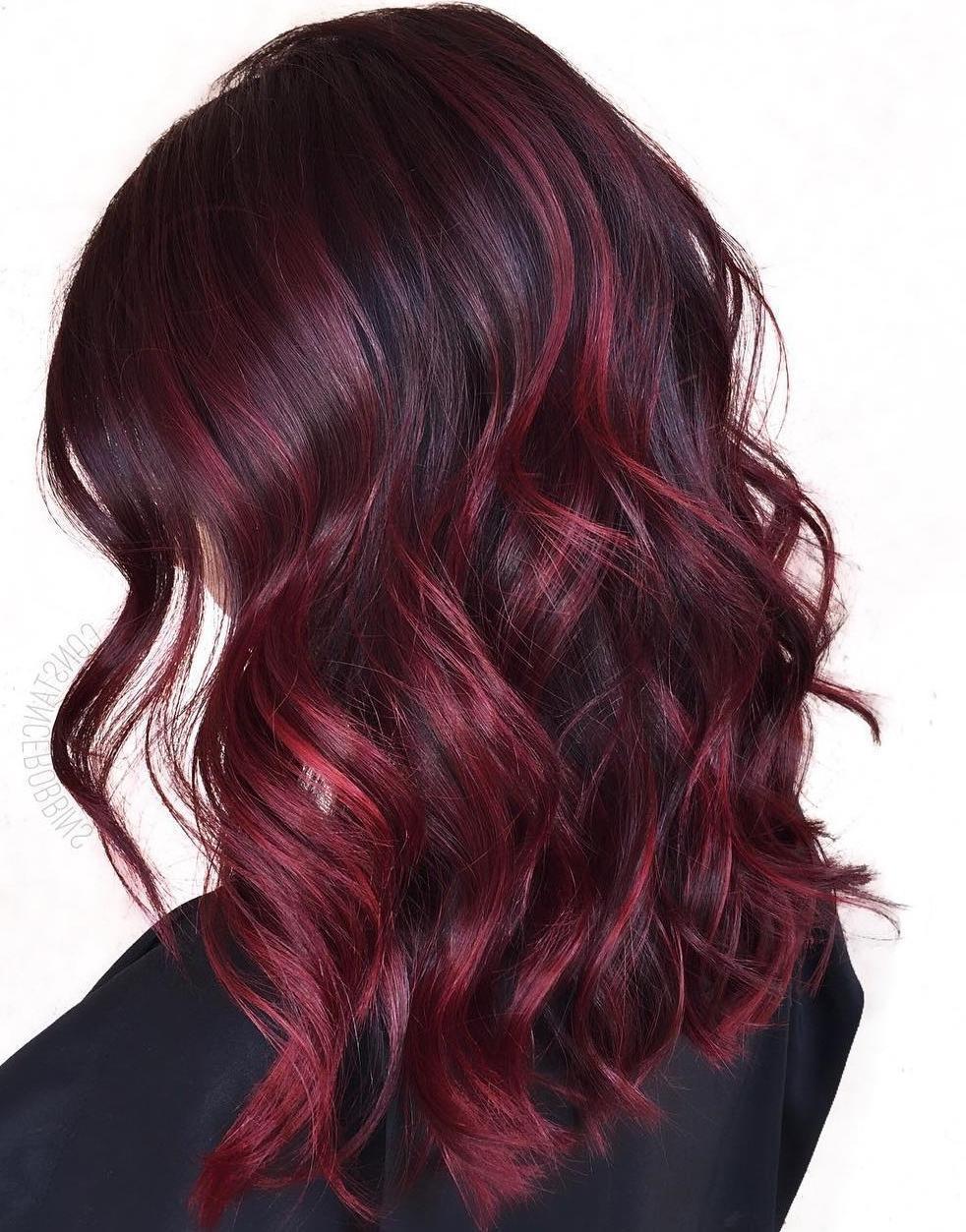 Top 50 bei colori di capelli bordeaux nel 2020 ...